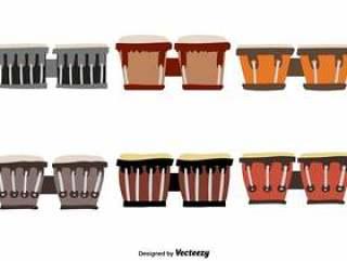 矢量邦戈鼓手绘制的图标