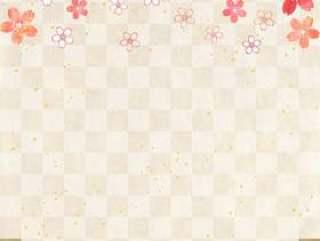 樱花柔和_格子_日本纸_垂直型1655