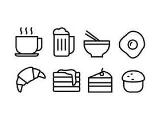 食物和饮料的图标