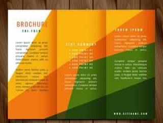 多彩的形状矢量灯笼宣传册设计