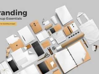 丰富的品牌VI展示样机PSD源文件打包下载 Branding Mockup Essentials