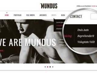 Mundus Agency Psd网页模板