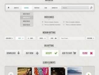 Modern&Gray网页元素PSD分层素材
