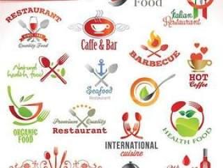 创意食物和饮料的图标