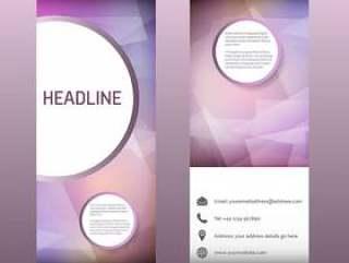 广告卷起横幅与抽象设计