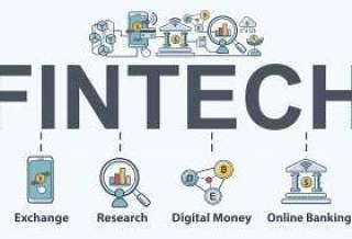 金融科技 - 金融技术横幅web图标集