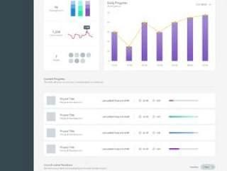 Analytics Dashboard UI KIT - Freebie
