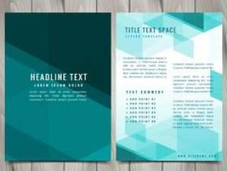 抽象的蓝色形状手册传单设计