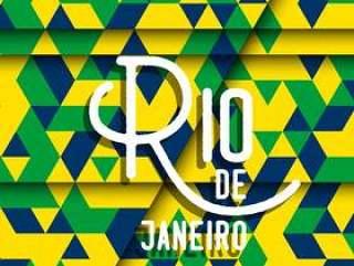 抽象的几何里约热内卢背景