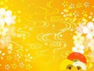 日本模式樱花框架明信片大小