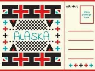独特的明信片从阿拉斯加载体