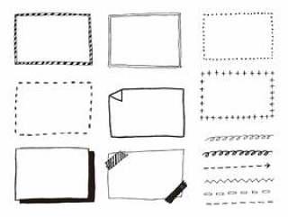 黑色和白色的手写框架