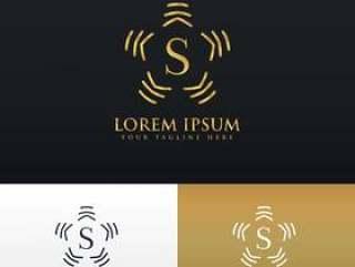 字母S的抽象风格会标标志设计