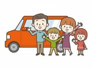 汽车和幸福的家庭