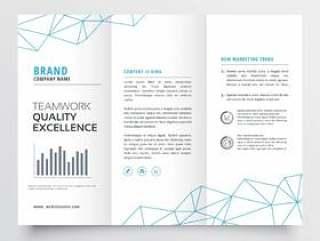最小三栏式小册子设计模板为您的业务