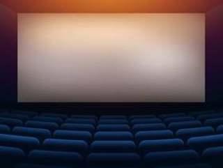 有投影墙的电影院剧院剧院