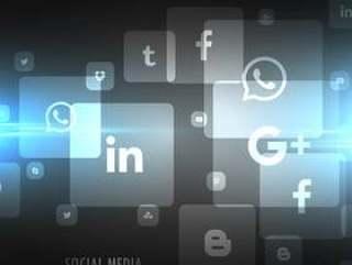 黑色的技术社交媒体图标