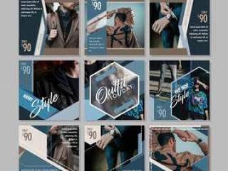 男士时尚社交媒体发布模板