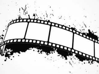 抽象的垃圾背景与电影地带