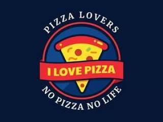 比萨恋人排版徽章