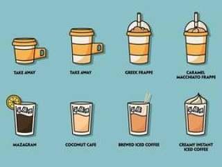 被冰的咖啡例证集合