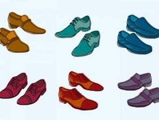 人鞋子例证集合