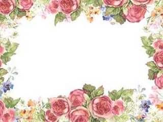 花框架293 - 一个无法形容的颜色的玫瑰框架
