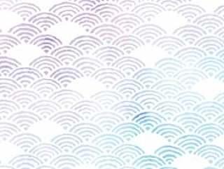 夏天的颜色日本模式青海波浪框架