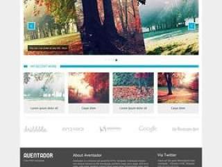 欧美风格企业网站模板十一