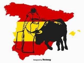 西班牙斗牛士矢量图