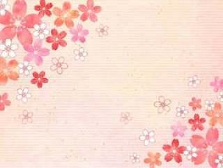 樱桃粉彩_粉红色粉笔_背景1653年