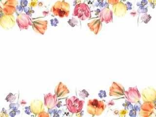 花框架255 - 华丽的花框架装饰框架