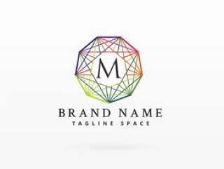 多彩的网络品牌标识概念设计背景