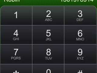 手机拨号界面psd分层素材