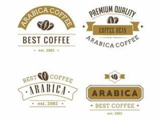 咖啡徽章矢量包