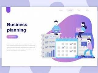 企业规划的现代平的设计观念网站网页模板矢量素材下载
