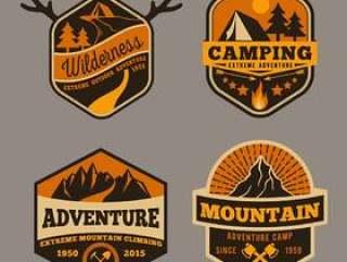 一套户外露营冒险
