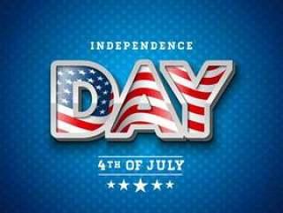 美国独立日矢量图