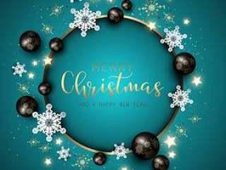 圣诞节和新年背景与雪花,小玩意和d