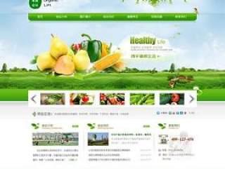 国内生态农业企业网站PSD