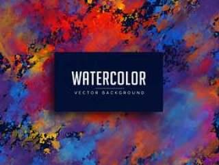 抽象水彩染色背景