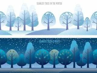 无缝四个季节森林5冬季和夜晚的设置