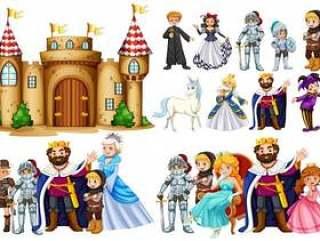 童话人物和城堡建设