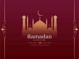 复古风格与清真寺形状的斋月贾巴尔节日设计