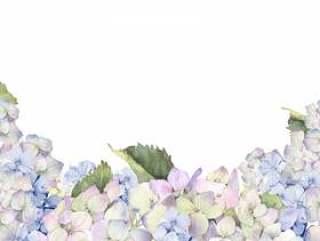 花框架96 - 蓝色绣球花框架