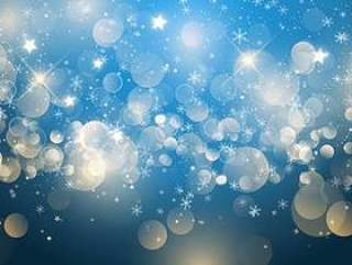 圣诞节雪花和星星