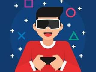 虚拟现实眼镜概念图