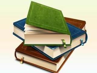 写实书籍图标psd分层素材