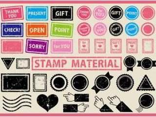 套模糊的邮票
