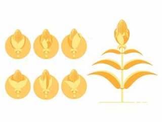 黄玉米秸秆图标
